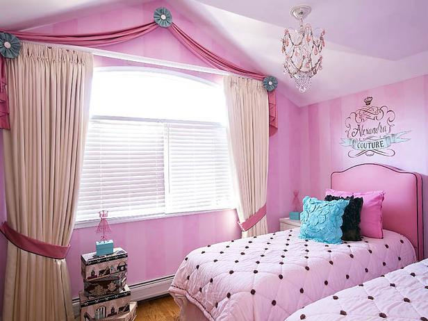 Girls bedroom window treatments - large and beautiful photos. Photo ...