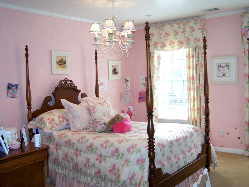 girls bedroom window treatments photo - 2
