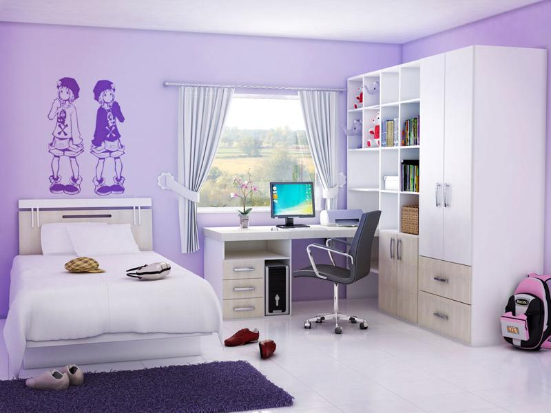 girls purple bedroom photo - 1