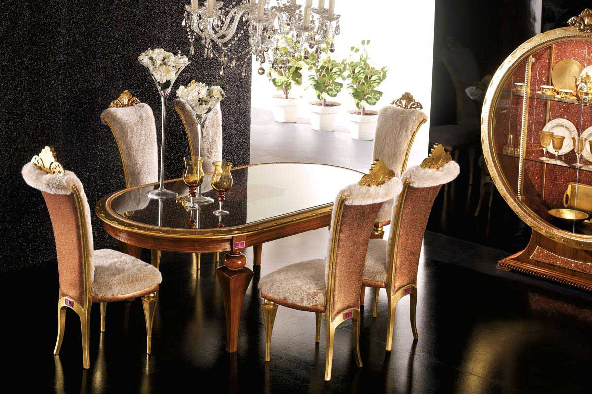 Astonishing Gold Dining Room Contemporary - Best inspiration home ...