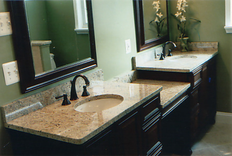 Granite countertops in bathrooms