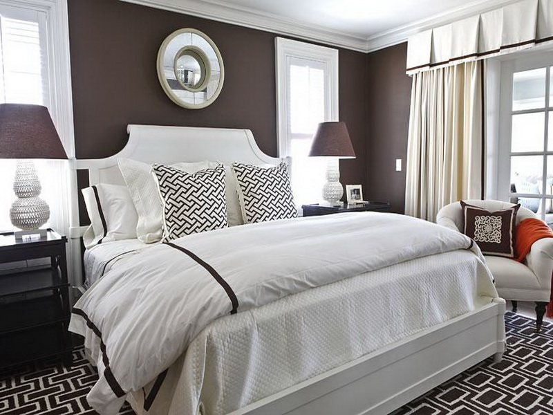 Gray Bedroom Color Schemes dark gray with brown bedroom color