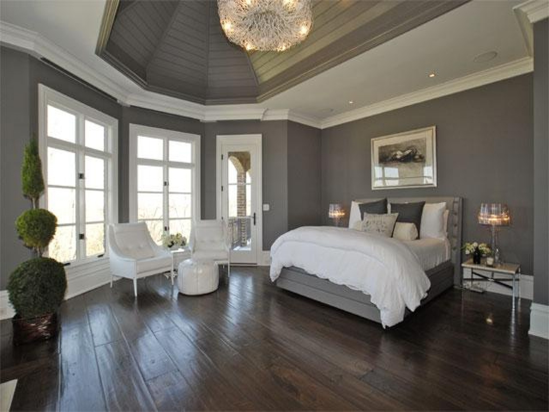 gray bedroom paint colors photo - 2
