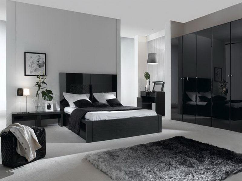 gray color bedroom photo - 2
