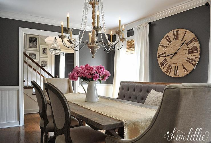 gray dining rooms photo - 2