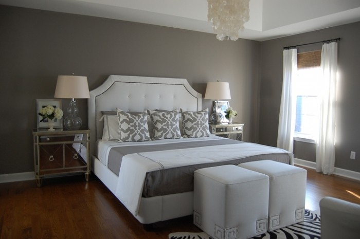 gray paint colors for bedrooms photo - 1