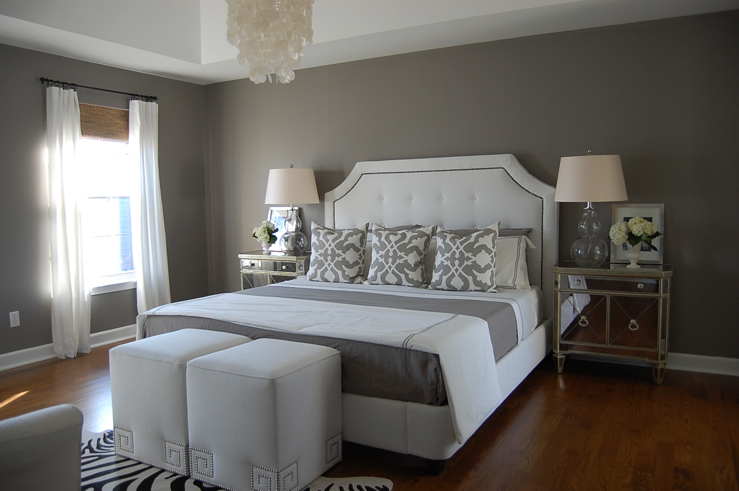 gray paint colors for bedrooms photo - 2