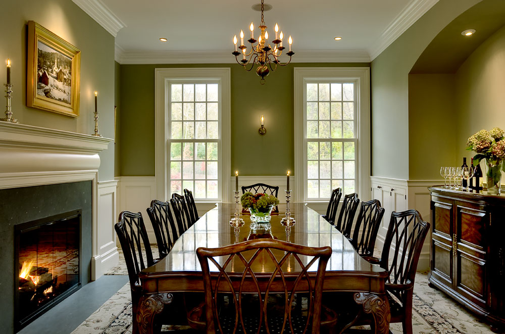 green dining rooms photo - 1