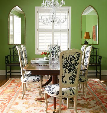 green dining rooms photo - 2