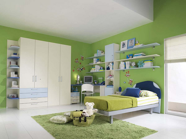green kids bedroom photo - 2