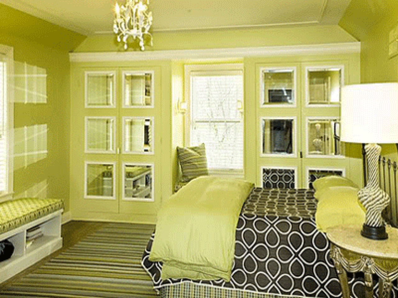 Green paint colors for bedroom - large and beautiful photos. Photo ...