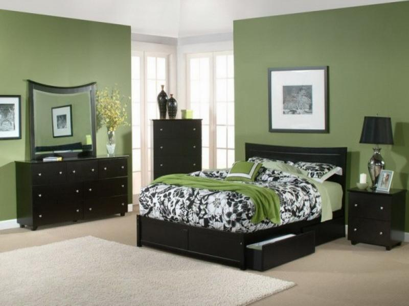 green paint colors for bedroom photo - 2