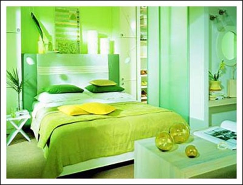 green paint colors for bedrooms photo - 2
