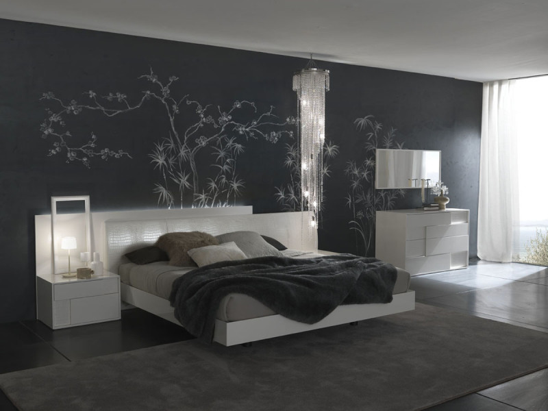 Grey bedroom wall - large and beautiful photos. Photo to select ...