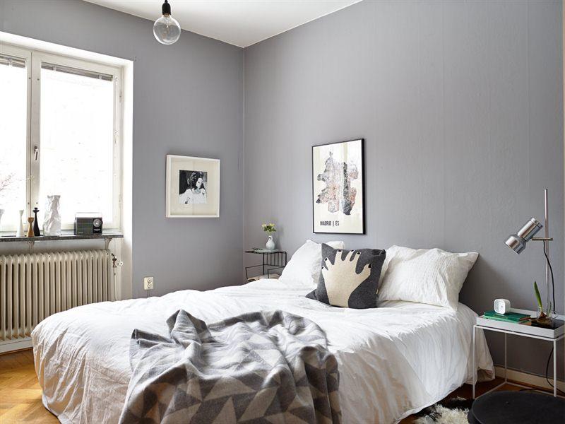 grey walls bedroom photo - 2