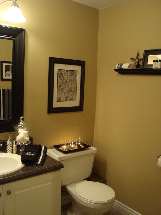Half Bathroom Ideas Brown. Bathroom Wall Decor Ideas