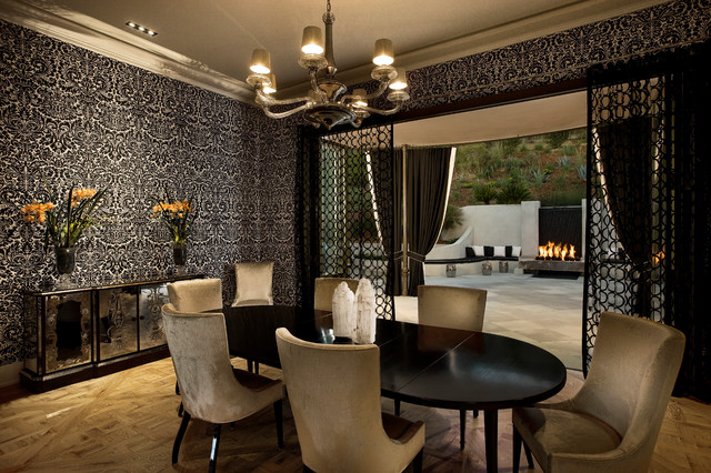 hollywood regency dining room photo - 2