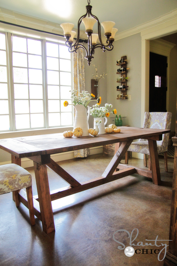 At My Kitchen Table 1. Dining Table Diy