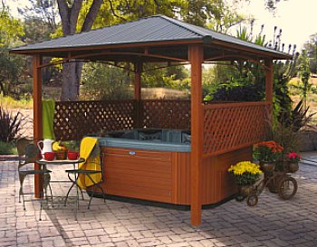hot tub backyard ideas photo - 1
