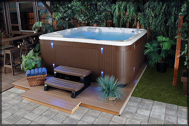 hot tub backyard ideas photo - 2