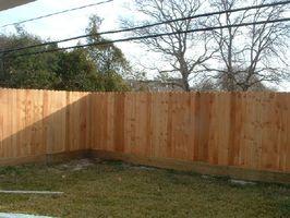how to build a backyard fence photo - 2