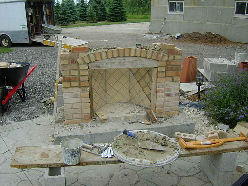 how to build a backyard fireplace photo - 2