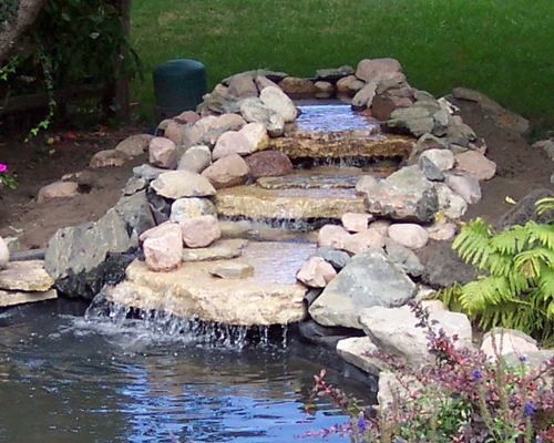 how to build a backyard waterfall photo - 2