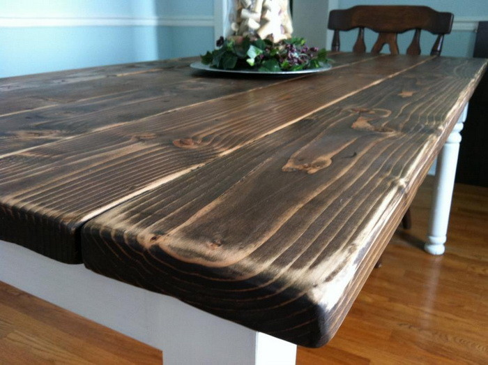 how to build a dining room table photo - 2