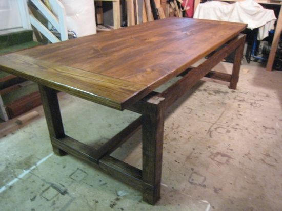 how to build a farmhouse dining table photo - 2