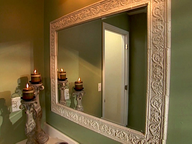 How To Build A Frame Around A Bathroom Mirror