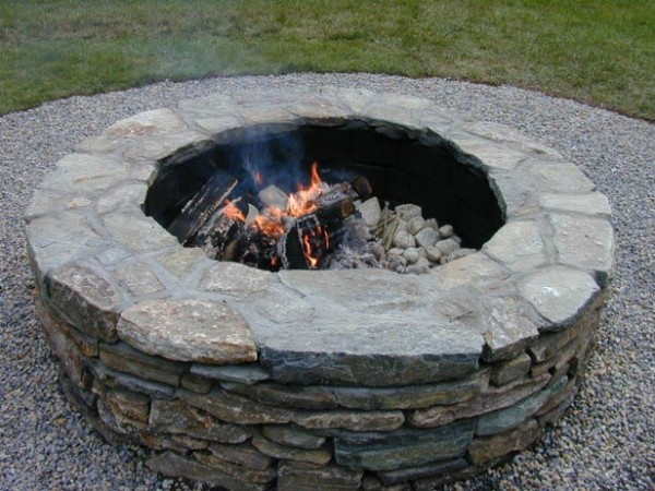 how to build a gas fire pit in your backyard photo - 2