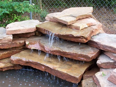 how to build backyard waterfall photo - 2