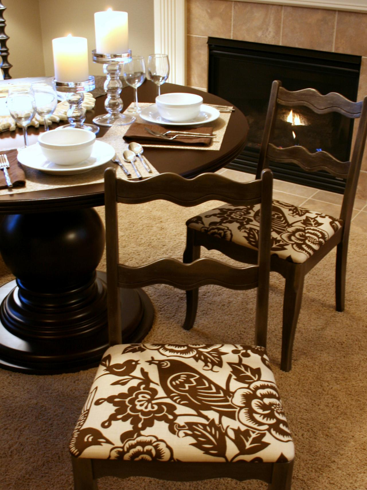 how to cover dining room chairs photo - 1