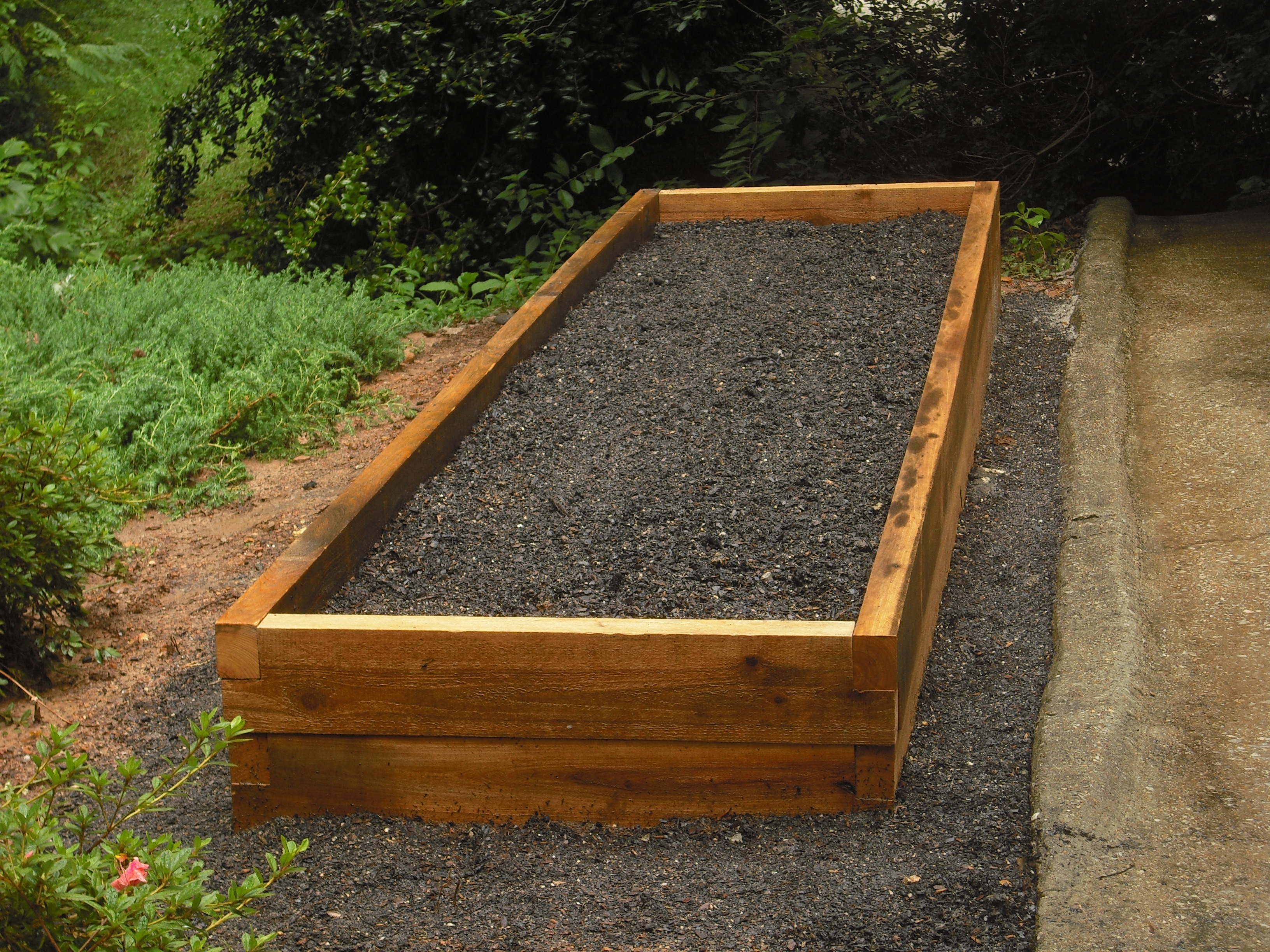 How to design a garden bed large and beautiful photos Photo to