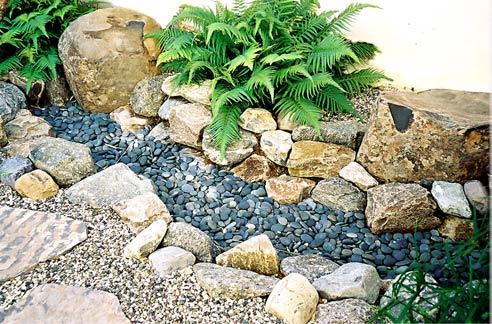 How to design a rock garden large and beautiful photos Photo to