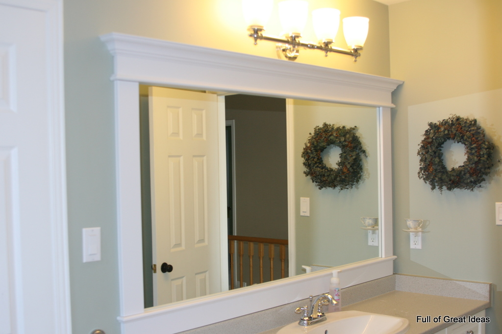 Diy Frame Bathroom Mirror Frame A Bathroom Mirror ...