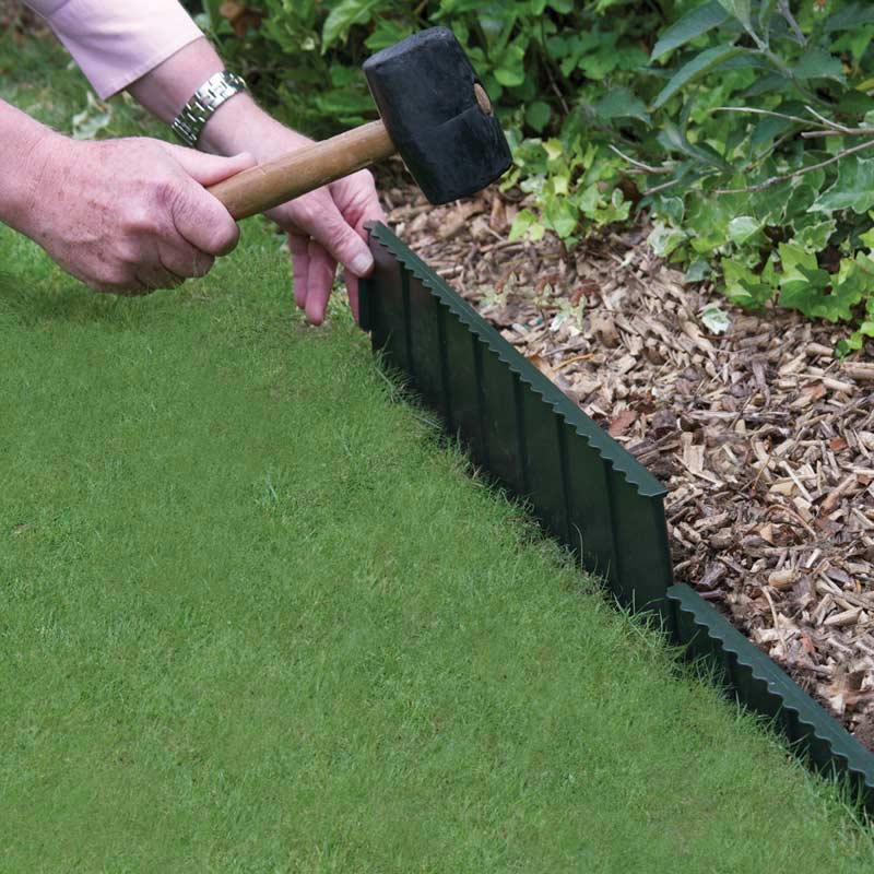 how to install plastic garden edging photo 2 - Plastic Garden Edging