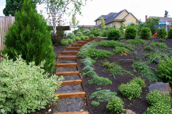 Incroyable How To Landscape A Sloped Backyard   Large And Beautiful Photos. Photo To  Select How To Landscape A Sloped Backyard | Design Your Home