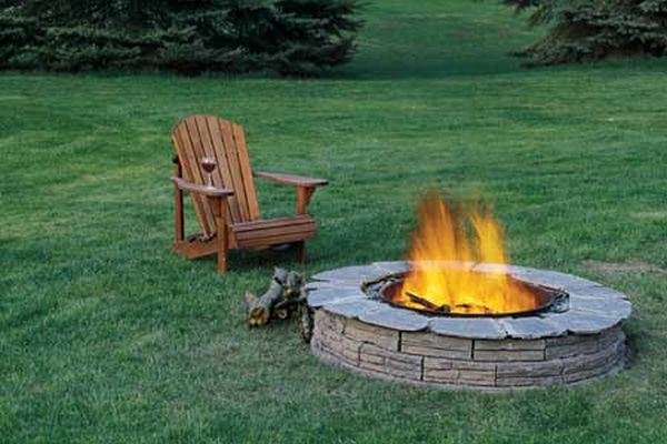 how to make a bonfire pit in your backyard photo - 2