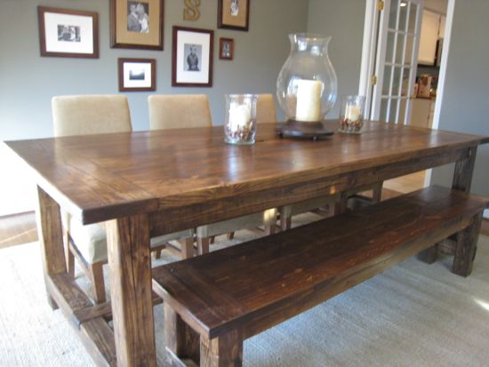 how to make a farmhouse dining table photo - 2
