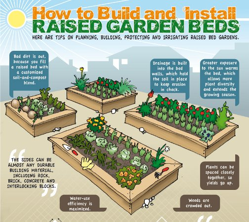 Charmant How To Make A Raised Garden Bed For Vegetables