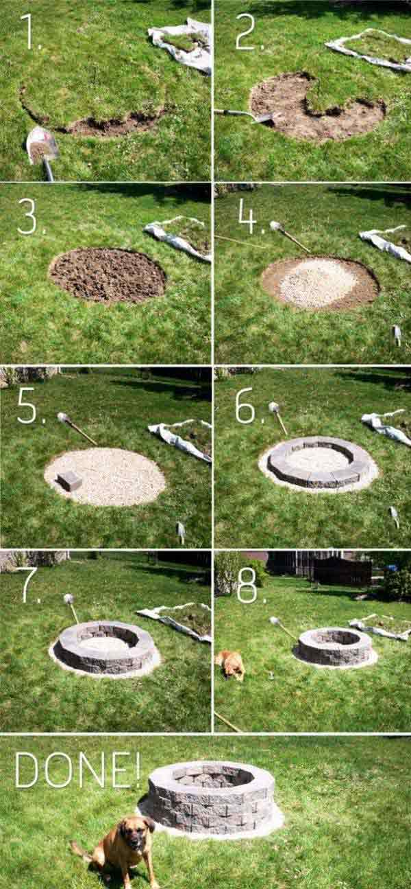 how to make a simple fire pit in your backyard photo - 2