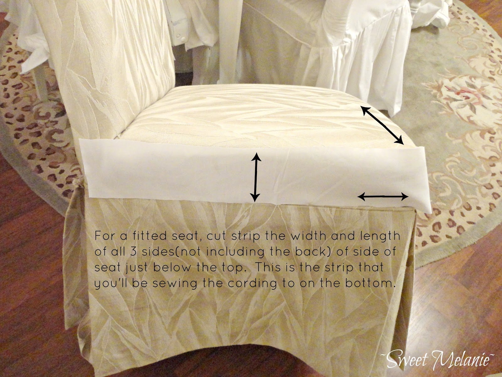 How To Make Dining Chair Slipcovers Photo 1