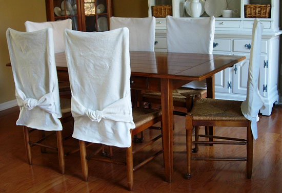 How To Make Dining Room Chair Slipcovers