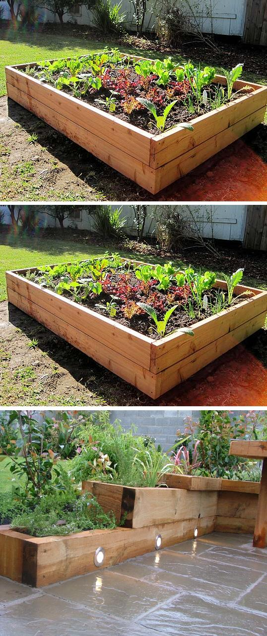 how to make raised garden bed photo - 2