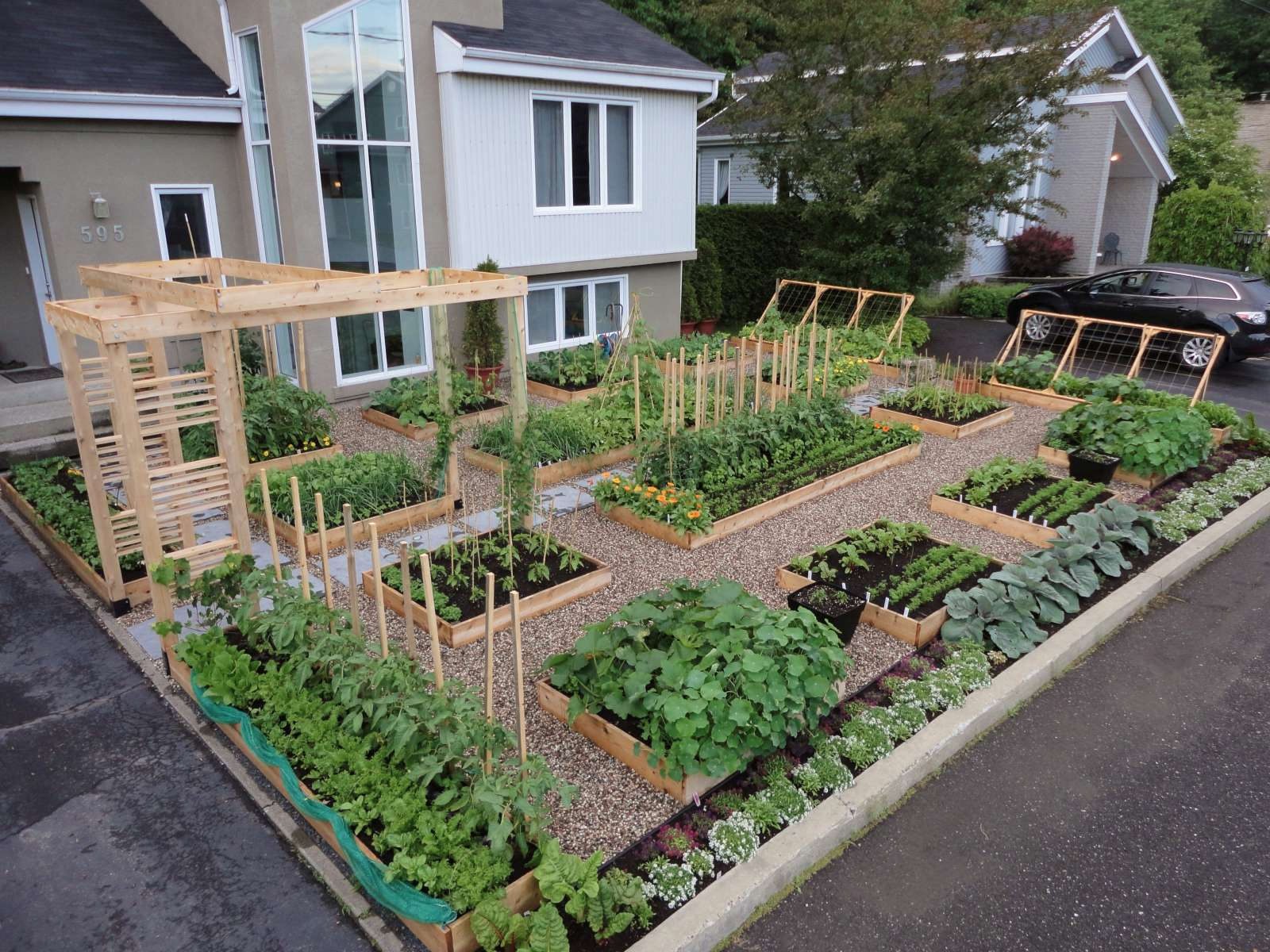 How to make vegetable garden bed large and beautiful photos