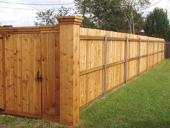 how to put up a garden fence photo - 1