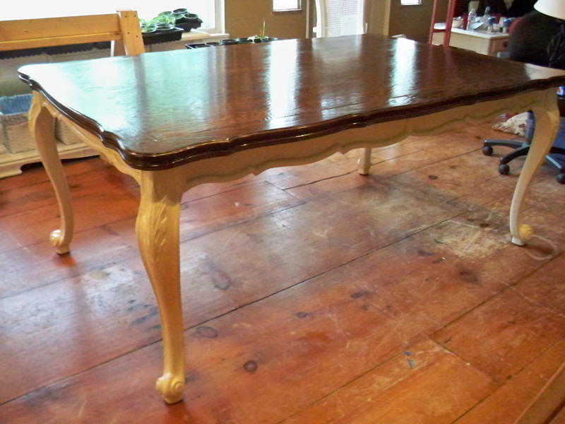 How to stain a dining room table