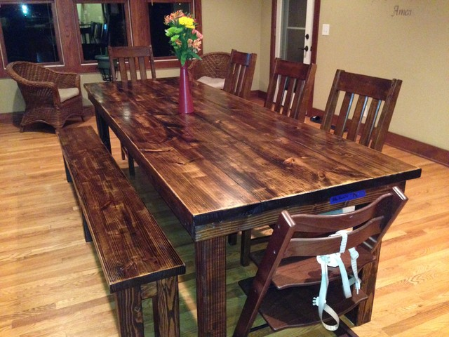 how to stain a dining room table photo - 2
