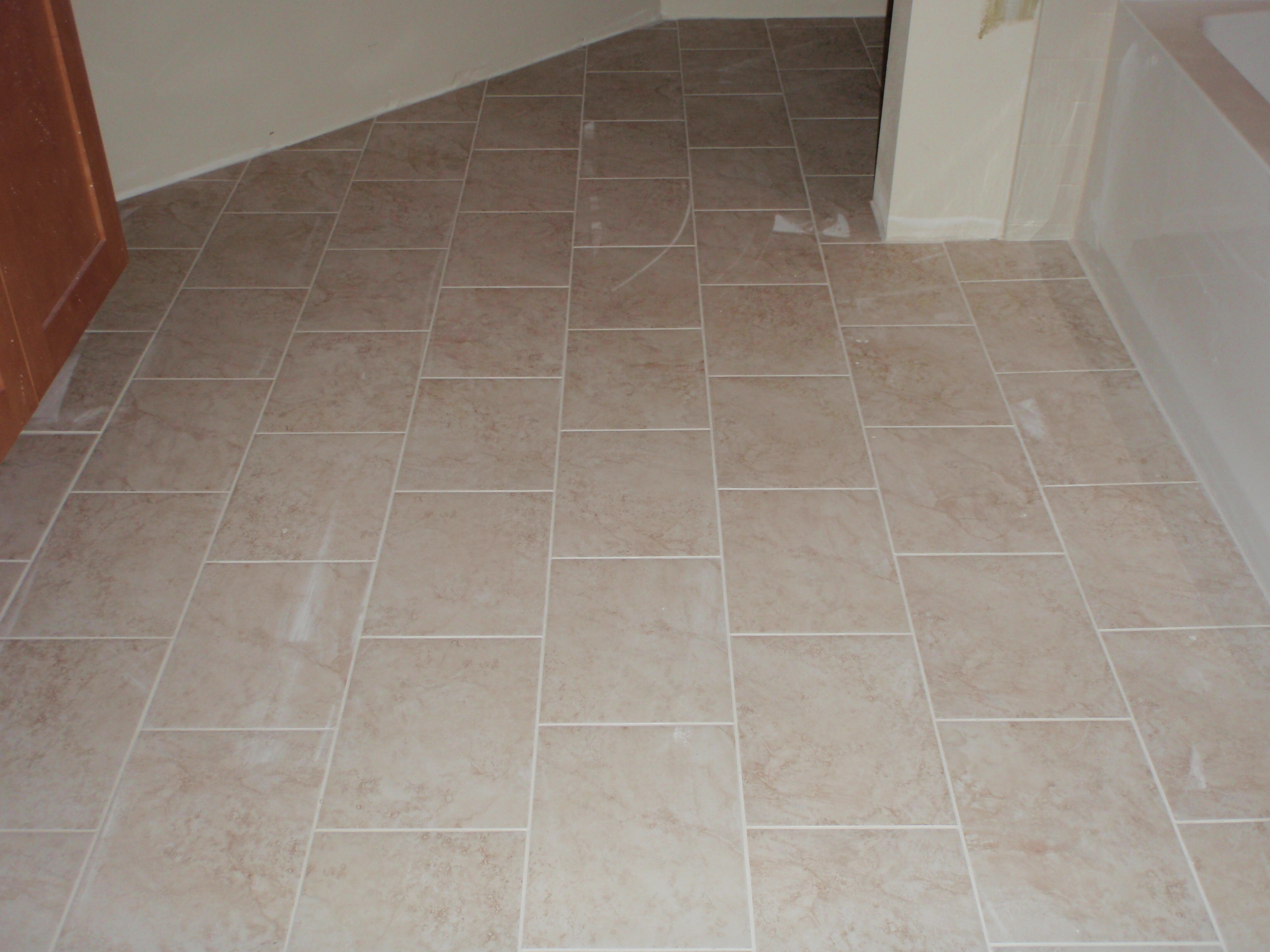 how to tile bathroom floor photo - 1